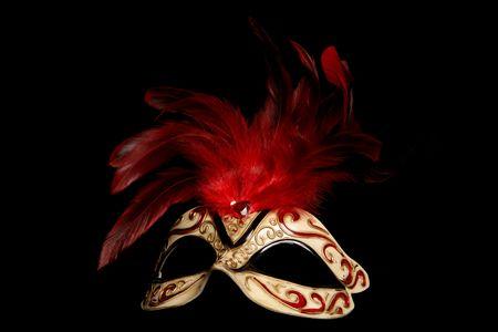 Mascarada m�scara de recorte de estudio sobre fondo negro
