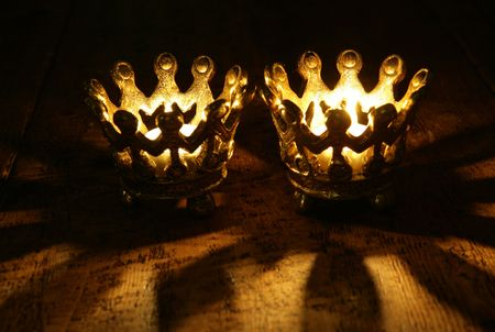 Two Crown candles still life portrait photo