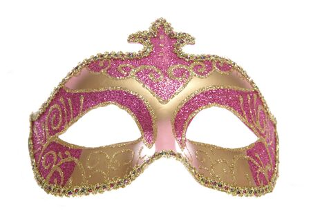 fancy dress: masquerade mask studio cutout on white background