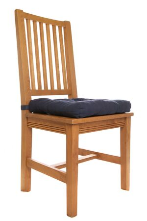 wooden chair isolated studio cutout Stock Photo
