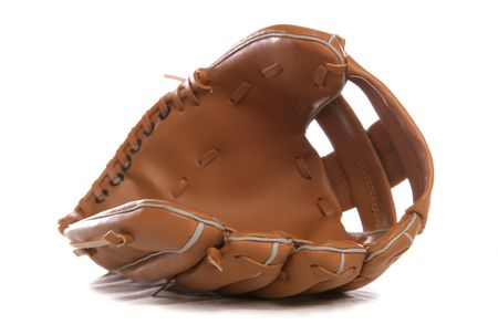 Leather Baseball glove studio cutout Stock Photo - 8013059