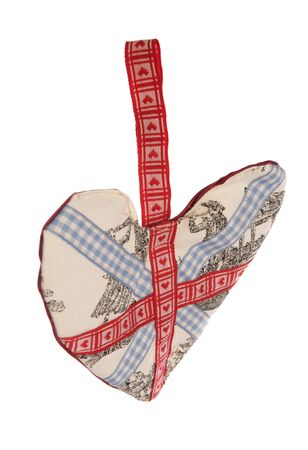 Union jack fabric Heart decoration studio cutout photo