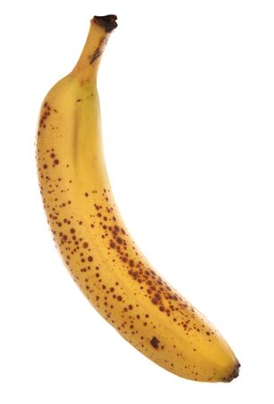 bannana: Single ripe bannana studio cutout
