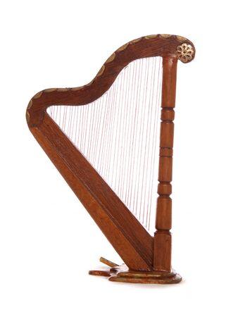 Minature woodern harp studio cutout