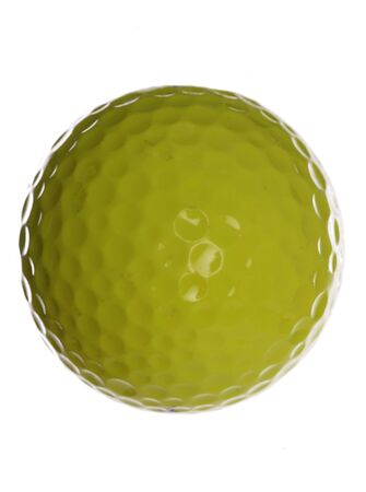 Yellow golf ball studio cutout Stock Photo - 8072295