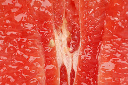 Pink grapefruit close-up macro abstract Stock Photo - 8072388
