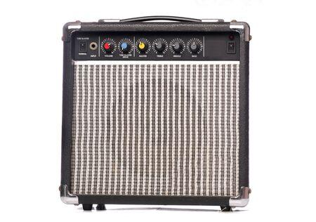 Retro music amplifier studio cutout