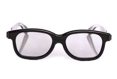 白い背景で隔離の 3 D メガネ 写真素材