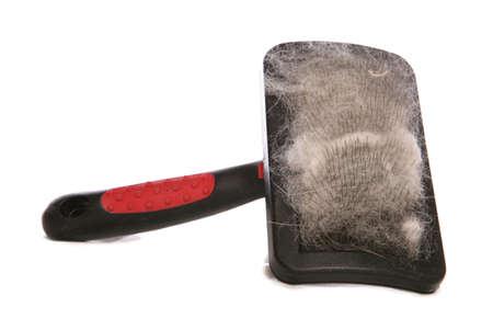 髪スタジオ切り欠きを持つペット ブラシ