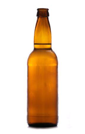 brown bottle of cider studio cutout photo
