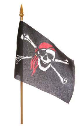 Toy Pirate flag studio cutout Stock Photo - 8133603
