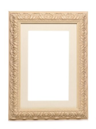 shabby chic vintage looking frame studio cutout Stock Photo - 8445796