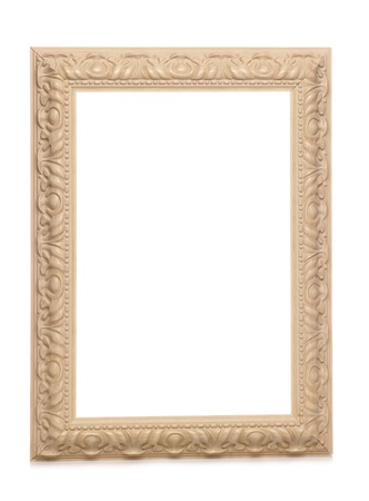 shabby chic vintage looking frame studio cutout Stock Photo - 8445792