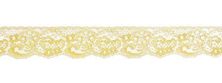 Recorte de estudio de patr�n de encajes amarillo Foto de archivo