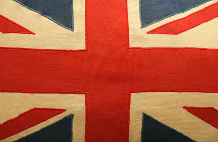 union jack cushion macro background Stock Photo - 8466272
