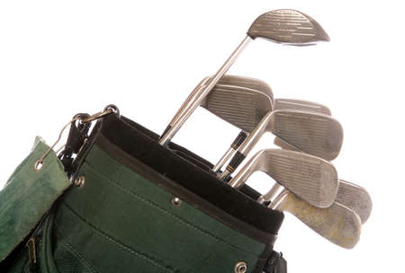 set of used golf clubs studio cutout Stock Photo - 9077890