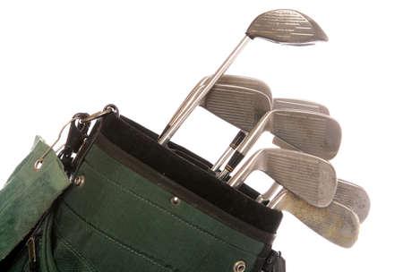 set of used golf clubs studio cutout Stock Photo - 9077890