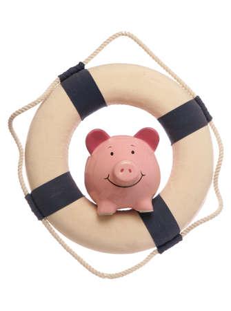 piggybank: Piggybank with safety life ring studio cutout
