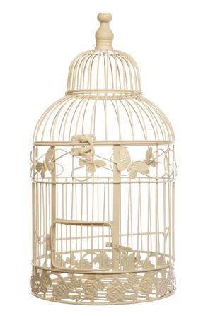 ビンテージのぼろぼろのシックな鳥ケージ スタジオ カットアウト 写真素材