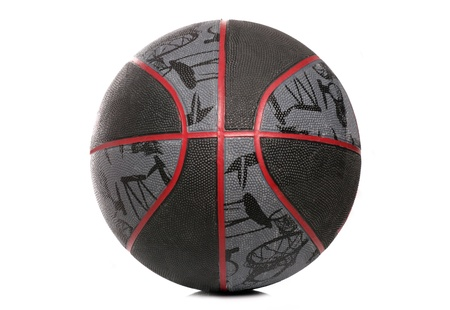 basketball ball isolated on white background Stock Photo - 9835132