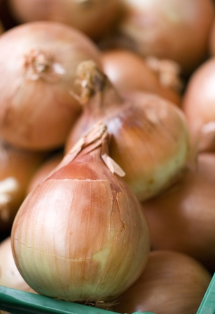 onions on a market stool Stock Photo - 10673406