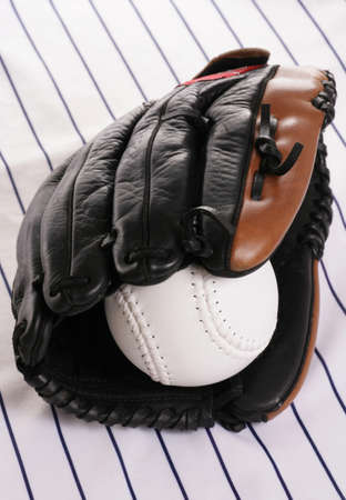 pin stripe: glove and softball on pin stripe