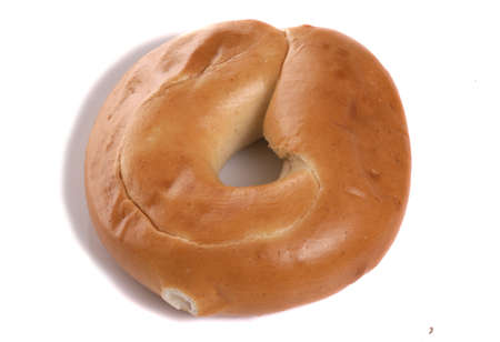 Bagel on a white background photo