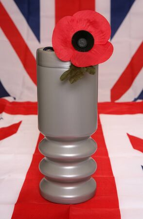 remembrance day charity donation tin Stock Photo