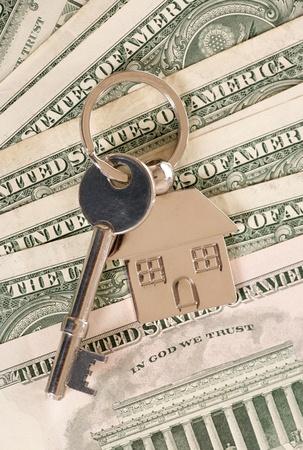 アメリカのドルの新しい家の鍵 写真素材
