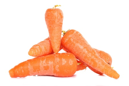 home grown: Home grown carrots studio cutout Stock Photo