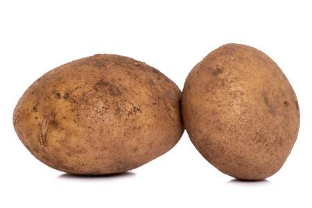 home grown: Home grown potatoe studio cutout Stock Photo