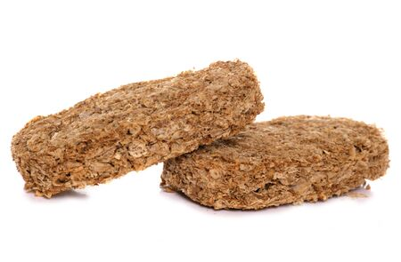 ウィータビックス: 白い背景の上穀物 写真素材