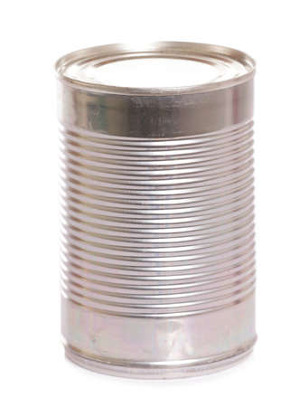 tin can: tin can food on white background