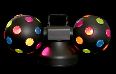 disco lights: disco lights on black background Stock Photo