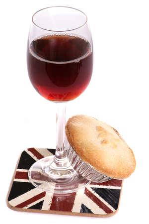 Christsmas sherry and mince pie studio cutout photo