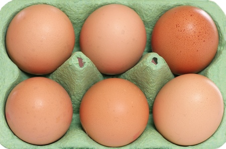 dozen: Half dozen eggs background texture