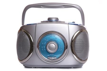 白い背景とレトロな音楽ラジオ ゲットーブラ スター