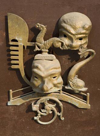 Bronze Door knob in Italy photo