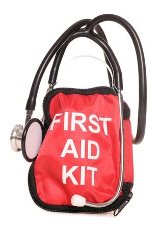 botiquin primeros auxilios: Botiqu�n de primeros auxilios y recorte estetoscopio estudio