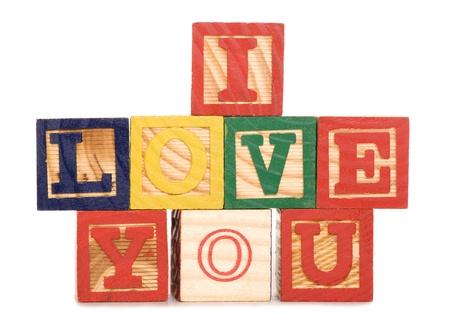 marrage: I love you wooden blocks studio cutout