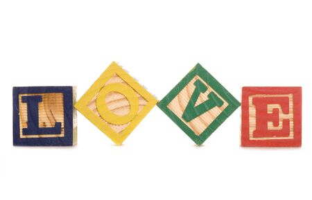 marrage: love wooden blocks studio cutout