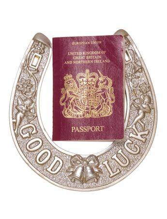 good luck travelling studio cutout Stock Photo - 15731849