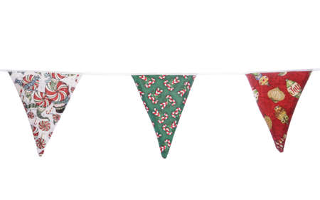 Christmas bunting on white background photo