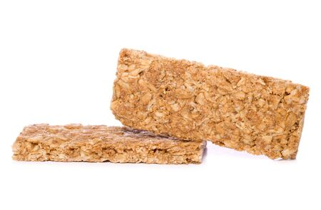 two Granola bars studio cutout Stock Photo - 17544782