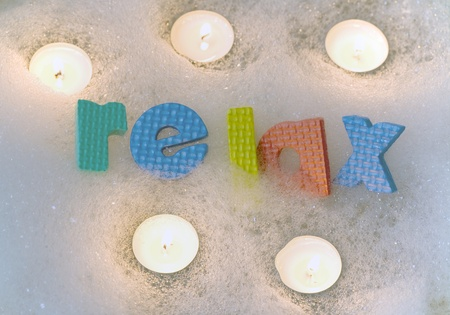 destress: Relax with candles bath time abstract