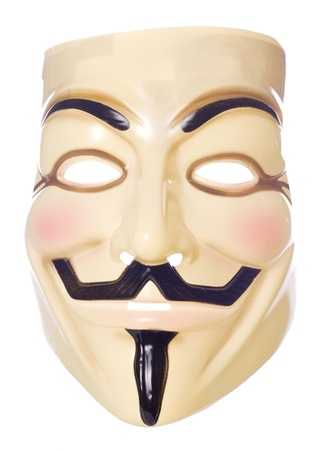 guy fawkes: Guy fawkes mask on a studio cutout
