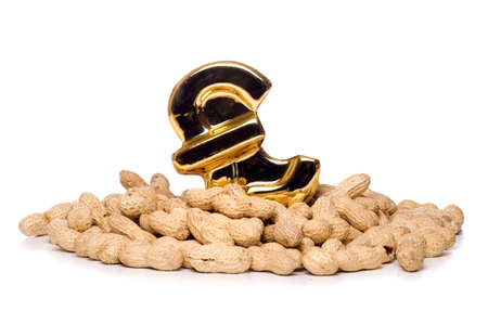 monkey nuts: pound sign in pile of monkey nuts studio cut out