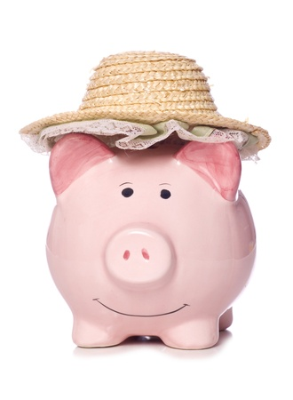 damas antiguas: Hucha con recorte viejo sombrero de mimbre se�oras estudio