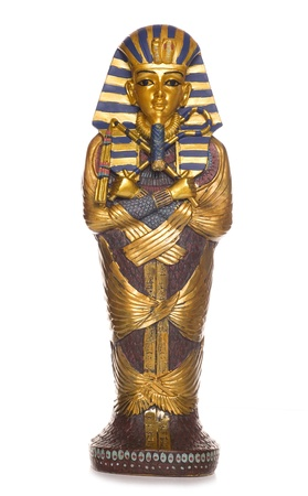 egyptian mummy: egyptian mummy coffin studio cutout Stock Photo