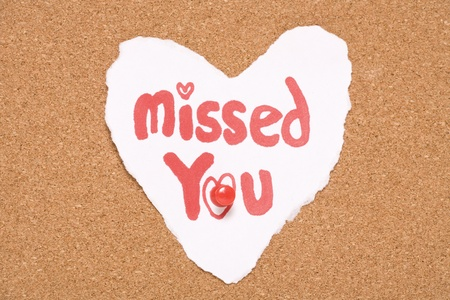 missed you love note abstract photo
